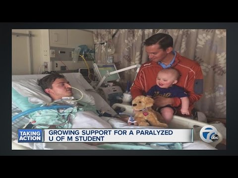 Growing support for paralyzed U of M student