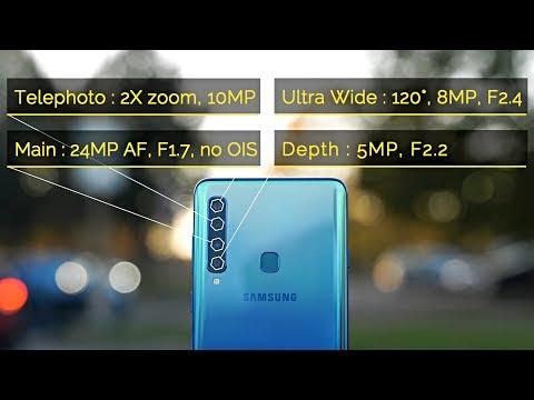 Samsung Galaxy A9 2018 Camera Review - World's First 4 Camera Phone