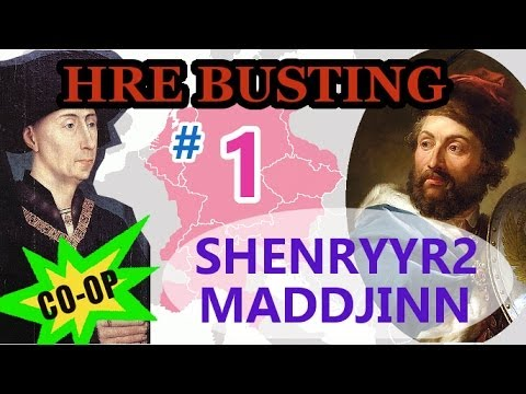 Europa Universalis 4 HRE Busting 1 - Shenryyr2 as Burgundy in Multiplayer Coop