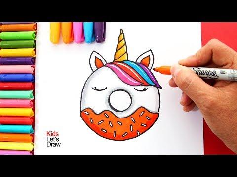 Como Dibujar Un Donut Unicornio