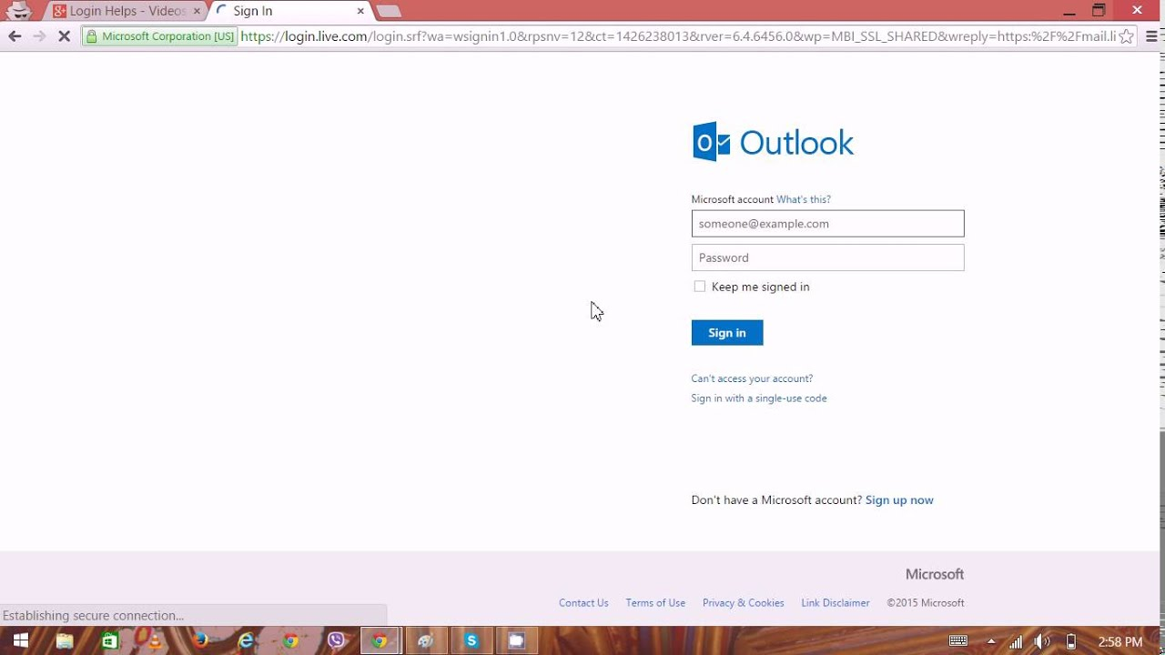 Hotmail Account & Email Login | Hotmail Sign In - YouTube