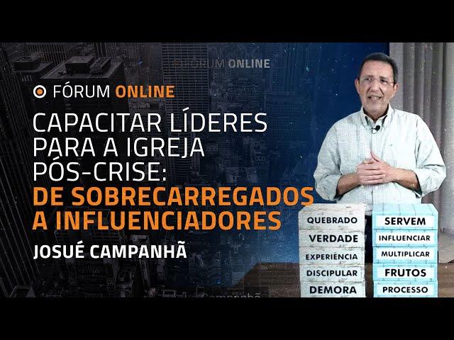 Capacitar Líderes para a Igreja Pós-crise: de Sobrecarregados a Influenciadores   Josué Campanhã