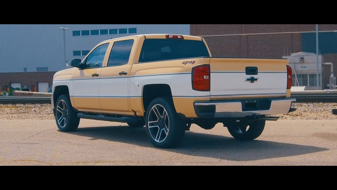 Chevy Truck New >> 2018 Chevy Silverado Retro Cheyenne Vinyl Graphics Decal Stripes - YouTube