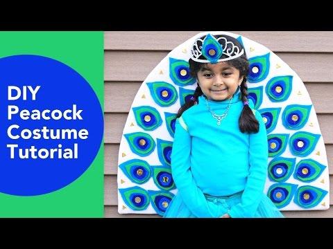 DIY Peacock Costume, No sew Halloween Costumes, Felt crafts ideas, Fiskars, Elmers Spray Adhesive
