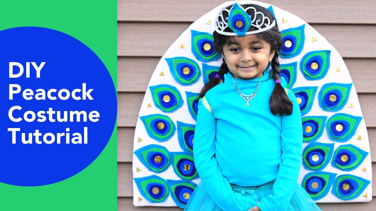 Diy Peacock Costume No Sew Halloween Costumes Felt Crafts Ideas