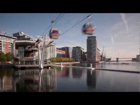 Emirates Air Line London time-lapse
