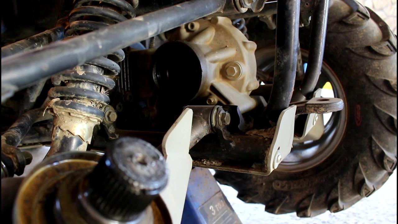 CFMOTO CF500A basic Квадроцикл Замена сальника привода в заднем редукторе