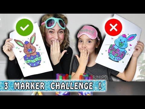 3 MARKER CHALLENGE Mère/fille : Thème Pâques