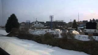 JR花輪線 陸中大里〜鹿角花輪 側面展望