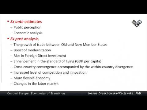 Central Europe. Economies of Transition, part 5