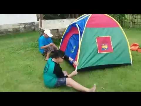 Cara Mendirikan Tenda Dome Anak Full Video Tendaanakonline Youtube