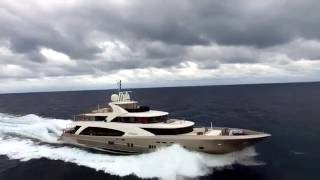 Fast Superyacht Couach 164 onboard and drone footage