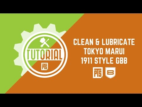 PTS Tutorial - Using Breakthough clean and lubricate Airsoft GBB 1911 Style Handgun