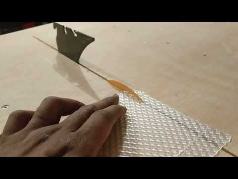 Cutting Plastic Sheets Using A Paper Blade