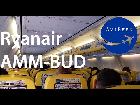 TRIP REPORT | Ryanair (Economy) | Amman - Budapest (AMM-BUD) | Boeing 737-800 | (+ lounge)