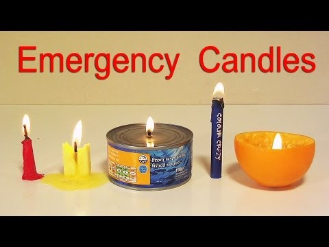 How to Make 5 Emergency Candles - Life Hacks