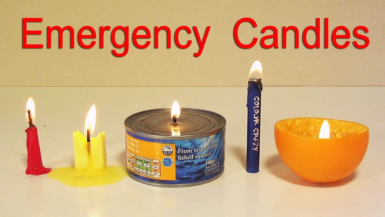 How To Make 5 Emergency Candles Life Hacks Youtube