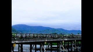 2017年7月27日 木 夏の京都嵐山 渡月橋の朝 ☆ Arashiyama