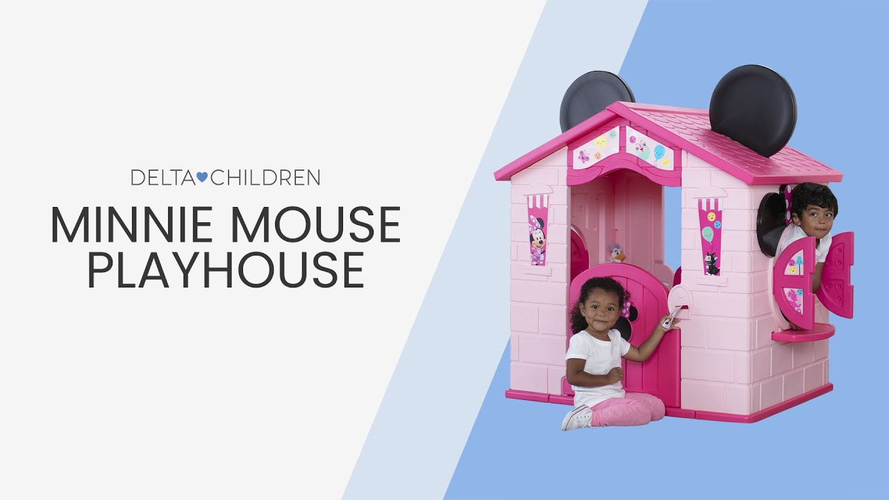 Minnie Mouse Playhouse By Delta Children Youtube