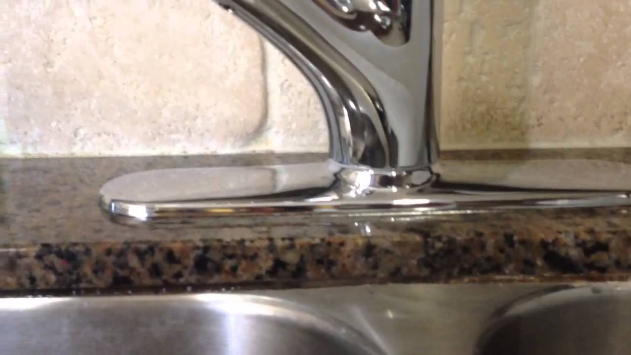 awesome Kitchen Faucet Plate #6: Kohler kitchen faucet - escutcheon plate intended for 3 hole installation -  YouTube