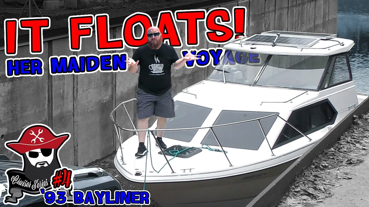 Cruiser #4: It's Sea Worthy! See the CAR WIZARD get the boat in the water and the issues that arise