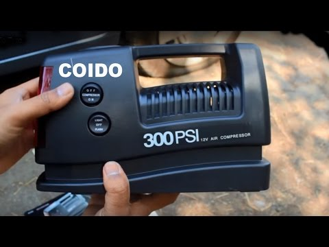 coido-12v-300psi-electric-car-tire-air-inflator---puncture-repair---video-demo
