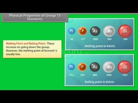 Physical Properties of Group 15 Elements