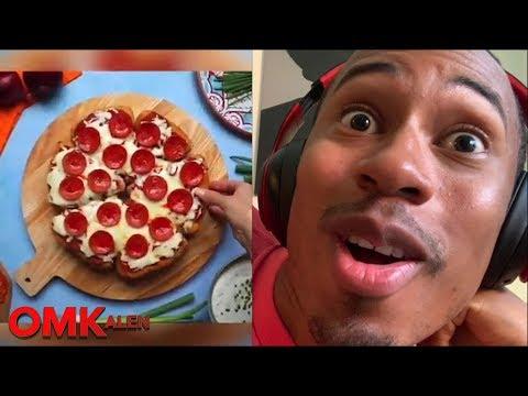 'OMKalen': Kalen Reacts to the Viral Deep-Fried BBQ Chicken Pizzadilla