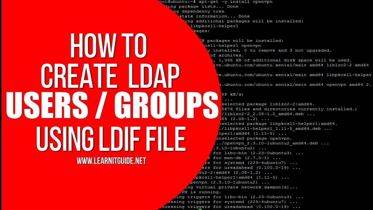 How to Create a LDAP Users and Groups using LDIF file