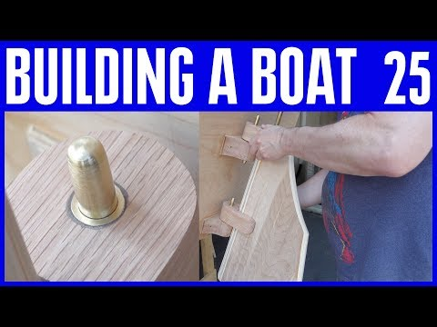 Boat Building Not Using Marine Plywood 25 The Rudder Steering Build