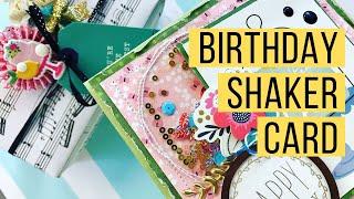 DIY Kreative Möglichkeit zur WIEDERVERWENDUNG von Verpackungen zu erstellen, shaker-element auf eine HANDGEMACHTE geburtstagskarte!