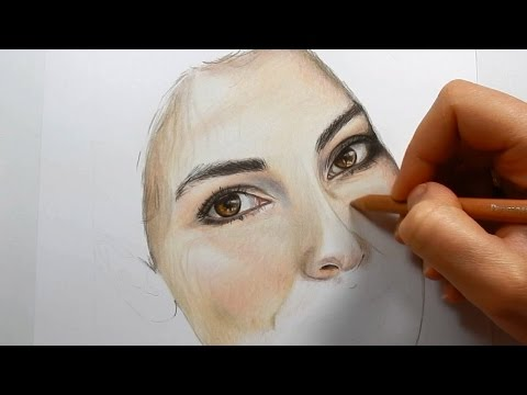 Coloring skin with colored pencils - Part 1 | Emmy Kalia