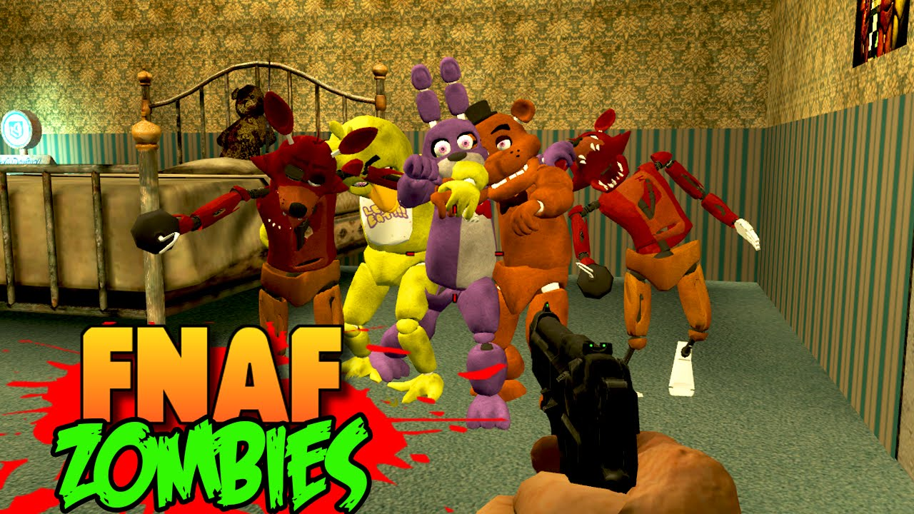 FIVE NIGHTS AT FREDDY\'S 4 ZOMBIES!!! FNAF 4 Custom Zombies Horror Mod Map!  (Call of Duty World War)