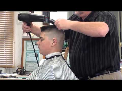 MILITARY FLATTOP HAIR CUT.