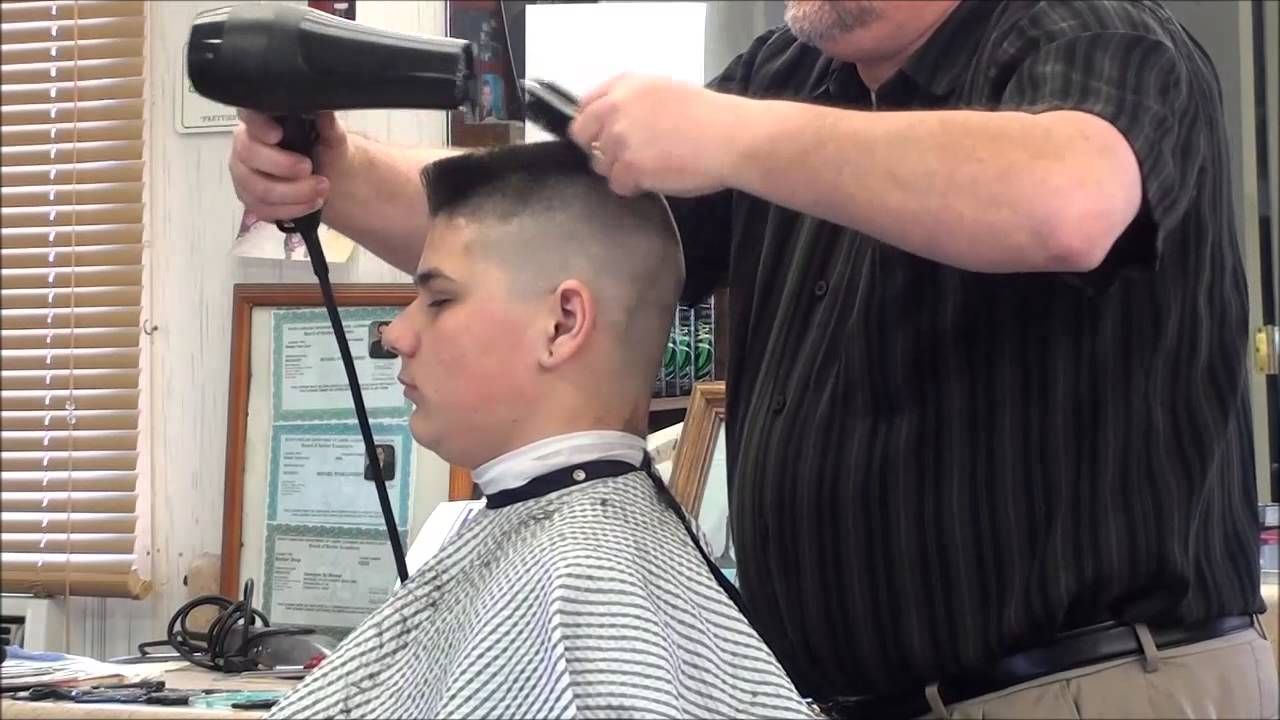 military flattop hair cut. - youtube