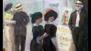 Going out to the cinema in 1913, John Sloan's Movies
