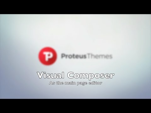 Visual Composer as a main page builder in WP themes