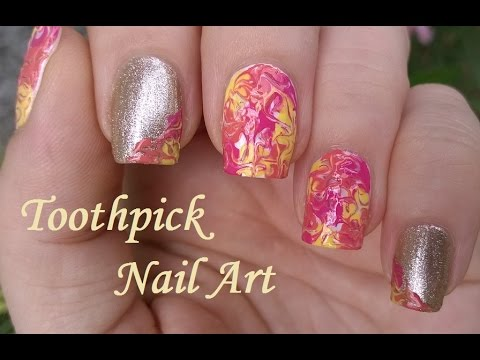 Mix match nails in orange pink yellow and gold toothpick mix match nails in orange pink yellow and gold toothpick nail art tutorial 8 prinsesfo Image collections