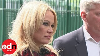 Emotional Pamela Anderson Visits Julian Assange In Belmarsh Prison