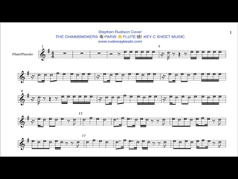 THE CHAINSMOKERS - PARIS 🔥FLUTE 🎼 KEY C NOTES
