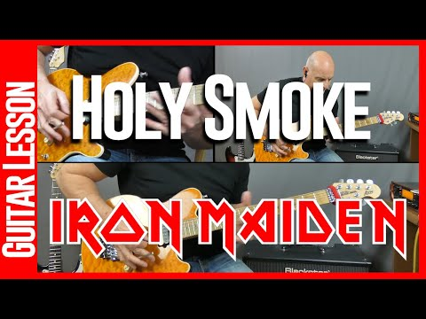 Holy Smoke By Iron Maiden - Guitar Lesson Tutorial
