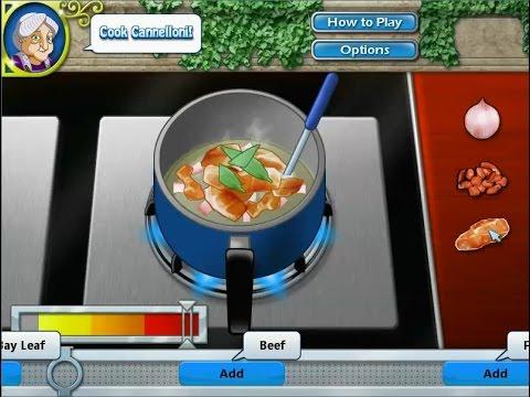 เกมส์ทำอาหาร พาสต้าม้วนห่อไส้(คาเนลโลนี่ ) - Cannelloni Cooking Game 카 넬로,カネロニ