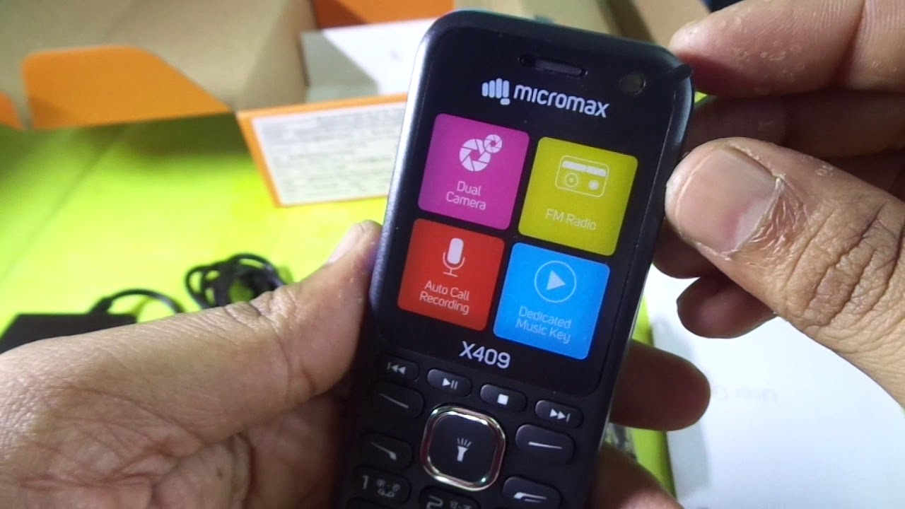 micromax x409 unboxing