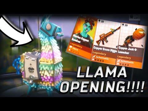 Best Birthday day Llama Opening Fortnite Save The World