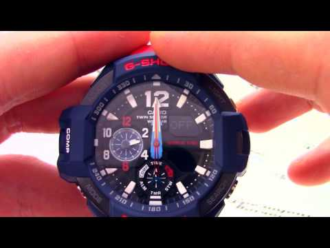 Часы Casio G-SHOCK GA-1100-2ADR - Инструкция, как настроить от PresidentWatches.Ru
