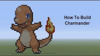 Minecraft Pixel Art Tutorial - Charmander (Pokemon)