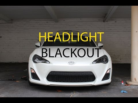 Scion FRS: How to Blackout Front Headlights