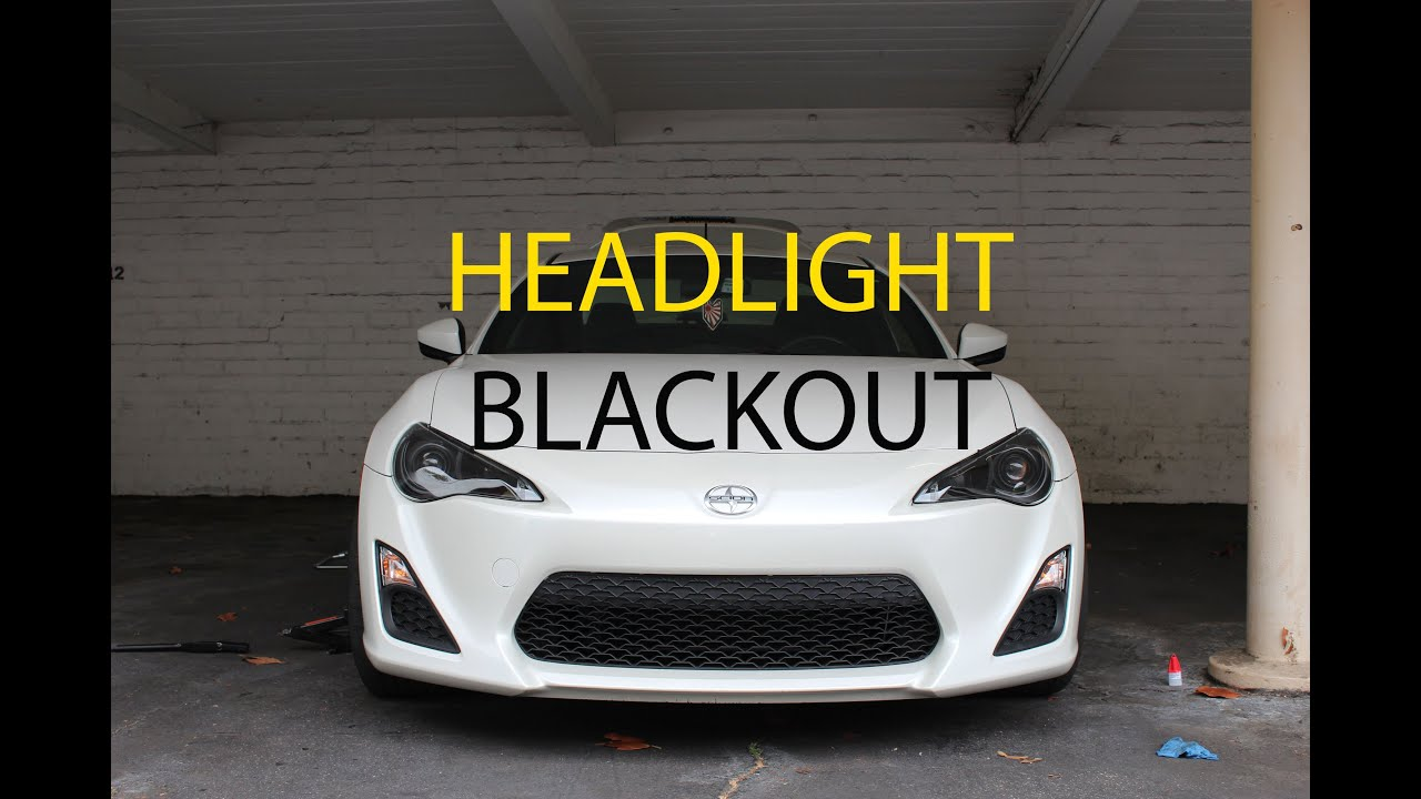 Scion Frs How To Blackout Front Headlights Youtube