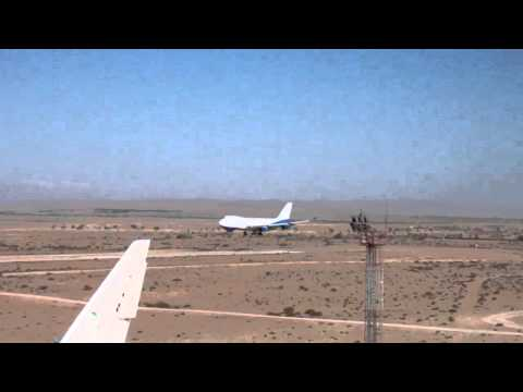 B747 landed in Tozeur Nefta int airport