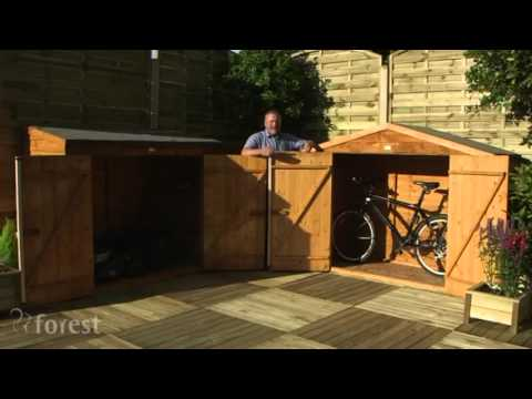 Wooden Storage and Bike Shed